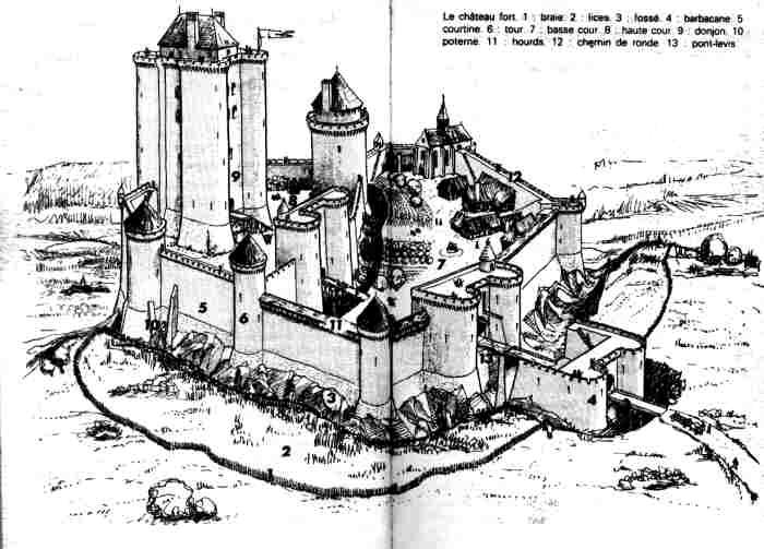 Préférence Eudemon Moyen-âge Châteaux forts VV64